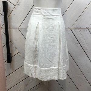 NWT BCBGMaxazria Kailin Pleated White Skirt